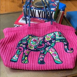 Vera Bradley beach bag with elephant